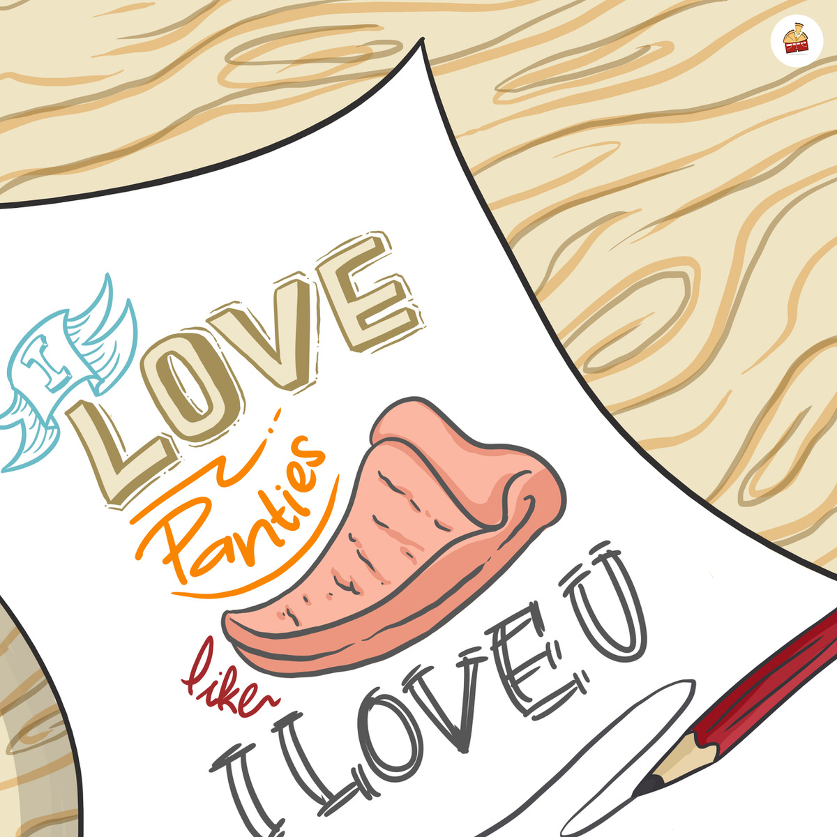 Love You Panties Pizza Like Always Jadikan Panties Pizza Inspirasi Senimu