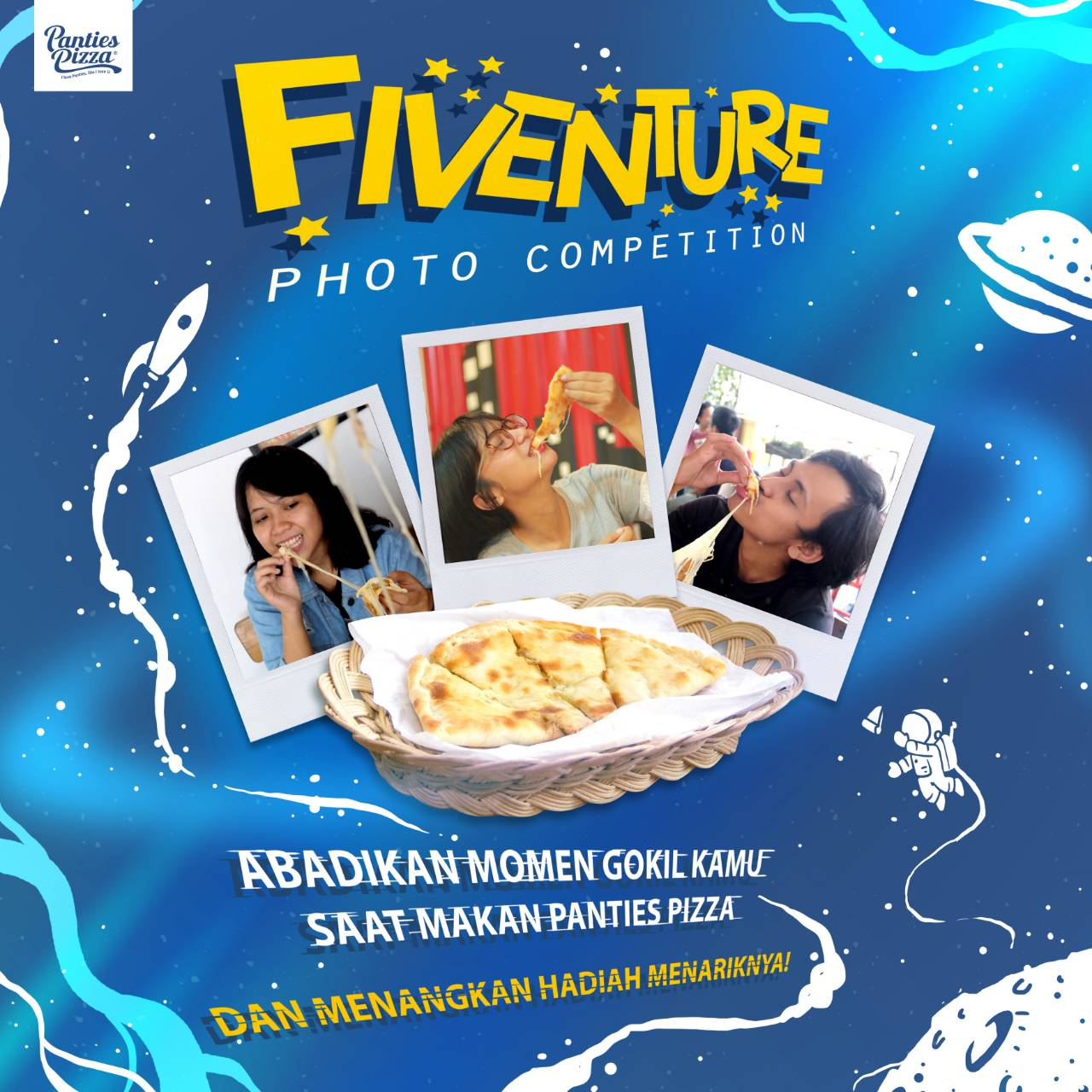 Fiveture Photo Competition Anniversary Panties Pizza Indonesia 5th