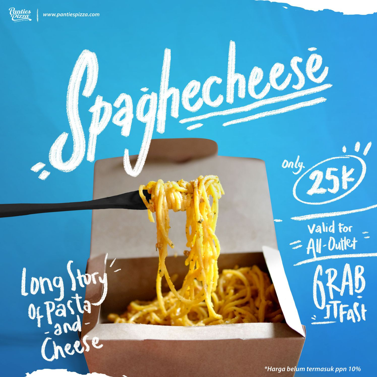 Spaghecheese Panties Pizza Menu Snack Baru Spaghecheese and French Zone Only at Panties Pizza