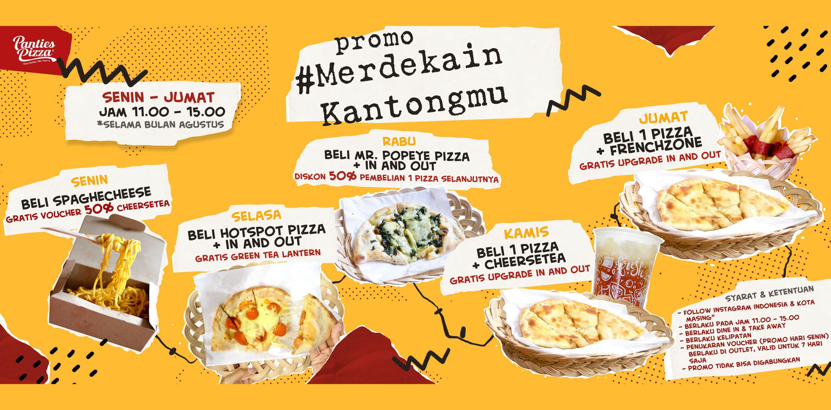 Panties Pizza Promo Merdekain Kantongmu
